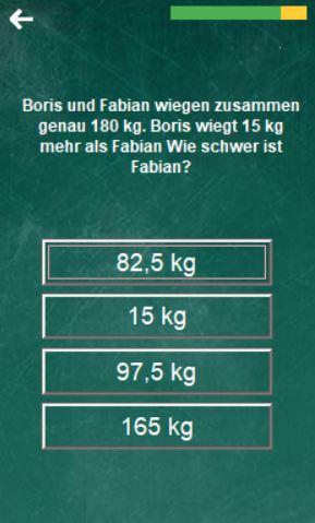rechnen mit gewichten
