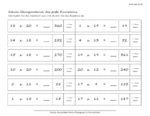 grundschule mathe grosse einmaleins 3 300x232 - Übungsblätter Mathe Grundschule - Übungsblätter Mathe Grundschule
