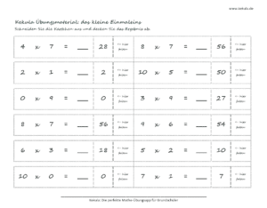 grundschule mathe kleines einmaleins 2 300x234 - Übungsblätter Mathe Grundschule - Übungsblätter Mathe Grundschule