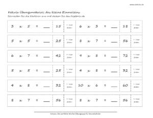 grundschule mathe kleines einmaleins 300x232 - Übungsblätter Mathe Grundschule - Übungsblätter Mathe Grundschule