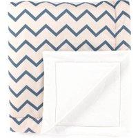 Nobodinoz Decke für Babys und Kinder Copenhagen aus Baumwolle (100x145 cm) mit Zickzack-Muster in blau