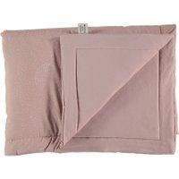Nobodinoz Decke für Babys und Kinder Laponia rosa aus Baumwolle (140x100 cm) mit Punkten in weiß