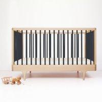 Kalon Studios Babybett aus Ahornholz (70x140) höhenverstellbar