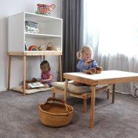 De Breuyn multifunktionales Kinder-Möbel-System Kukua Kids Basisset 9-in-1 in beige