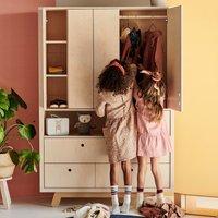 Kutikai Kleiderschrank für Kinderzimmer Peekaboo aus Birken- & Eichenholz
