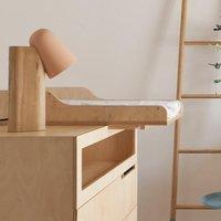 Kutikai Wickelauflage aus Birkenholz für Babykommode & Babybett Roof