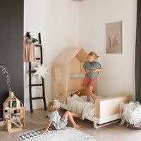 Kutikai Kinderbett aus Holz mit Hausdach Modell Roof (160x80)