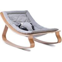 Charlie Crane Levo Sweet Grey Babywippe aus Holz in grau (ab Geburt)