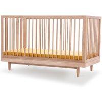 Nobodinoz Babybett Pure aus Eichenholz (70x140 cm) mit höhenverstellbarer Liegefläche in natur