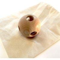 Hohenfried Babyrassel aus Eschenholz Kugelball inkl. Säckchen aus Baumwolle (ab Geburt)