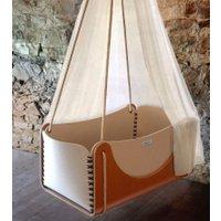 Woodly Babyschaukel Roll - hängendes Babybett aus Holz und Wollfilz (ab Geburt)