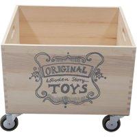 Wooden Story Holzkiste auf Rädern zum Aufbewahren von Spielzeug (45x32x32 cm)