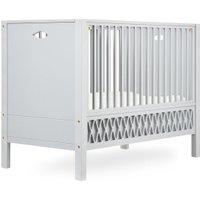 CamCam Babybett Harlequin (60x120) mit geschlossenen Enden höhenverstellbar in grau