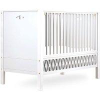 CamCam Babybett Harlequin (60x120) mit geschlossenen Enden höhenverstellbar in weiß