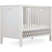 CamCam Babybett Harlequin (60x120) mit geschlossenen Enden höhenverstellbar in beige
