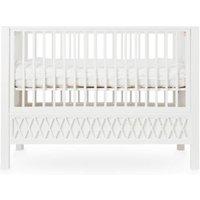 CamCam Babybett Harlequin (60x120) höhenverstellbar in weiß
