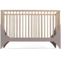 Sebra Yomi Baby- und Kinderbett Komplettset mit Gitter aus Buchenholz (60 x120) höhenverstellbar in braun / natur