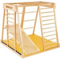 Kidwood Kinder-Klettergerüst Rakete BASIS Set aus Holz (3-teilig) für Kinderzimmer