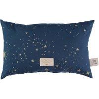 Nobodinoz Kinder-Kissen Laurel dunkelblau aus Baumwolle (22x35 cm) inkl. Füllung mit Sternen in gold