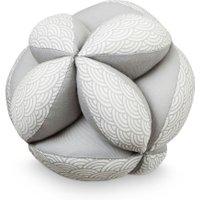 CamCam Spielzeug Ball Welle mit Rassel aus Bio-Baumwolle (15 cm) in grau