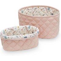 CamCam Aufbewahrungskörbe Blossom Pink (2er Set) aus Bio-Baumwolle