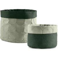 Flexa ROOM Aufbewahrungskorb (2er Set) aus Baumwolle in grün