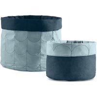 Flexa ROOM Aufbewahrungskorb (2er Set) aus Baumwolle in blau