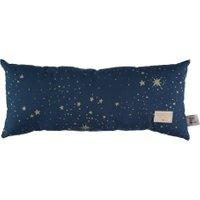 Nobodinoz langes Kissen Hardy aus Baumwolle (52x22 cm) inkl. Füllung mit Sternen in gold