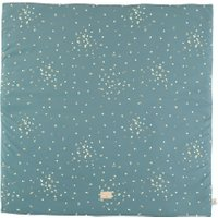 Nobodinoz Spielmatte Colorado Gold Confetti / Magic Green (100x100 cm) aus 100% Bio-Baumwolle