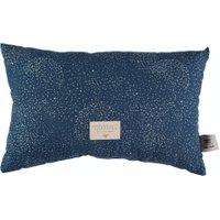 Nobodinoz Kinder-Kissen Laurel dunkelblau aus Baumwolle (22x35 cm) inkl. Füllung mit Pünktchen in gold