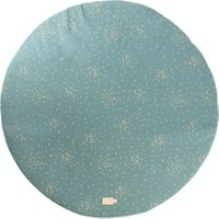 Nobodinoz Spielmatte Full Moon Gold Confetti / Magic Green (105 cm) aus 100% Bio-Baumwolle