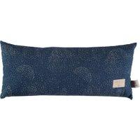 Nobodinoz Kinder-Kissen Hardy dunkelblau aus Baumwolle (52x22 cm) inkl. Füllung mit Pünktchen in gold