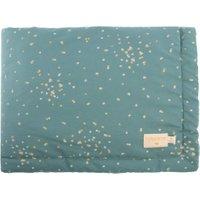 Nobodinoz Babydecke Laponia Gold Confetti / Magic Green (140x100 cm) aus 100% Bio-Baumwolle