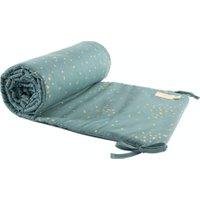 Nobodinoz Bettnestchen Gold Confetti / Magic Green (207x32 cm) aus 100% Bio-Baumwolle