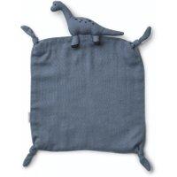 Liewood Schmusetuch Agnete Dino aus 100% Bio-Baumwolle in blau