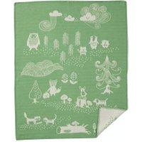 Klippan Babydecke Little bear green (70x90 cm) aus organischer Baumwolle