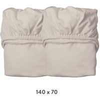 Leander Spannbettlaken aus Bio-Baumwolle (70x140 cm) 2er-Pack Dusty Cappuccino