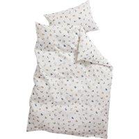Leander Junior-Bettwäsche aus Bio-Baumwolle (100x135 / 40x60) Dusty Blue