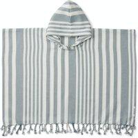 LIEWOOD Badeponcho mit Kapuze Roomie (1 bis 2 Jahre) aus Bio-Baumwolle mit blauen Streifen