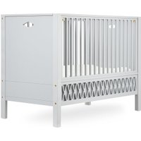CamCam Babybett Harlequin (70x140) mit geschlossenen Enden höhenverstellbar in grau