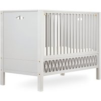 CamCam Babybett Harlequin (70x140) mit geschlossenen Enden höhenverstellbar in beige