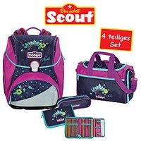 Scout Schulrucksack Alpha Cool Princess 4 teiliges Set
