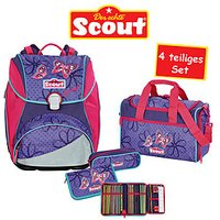 Scout Schulrucksack Alpha Savage 4 teiliges Set