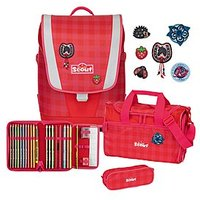 Scout Ultra Red Gingham 4 tlg. Set Schulranzen-Set