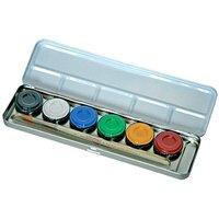 Schminkpalette mit 6 Farben im Metalletui
