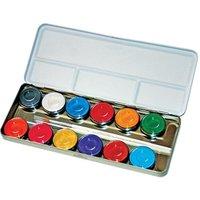 Kinder Make Up Box mit 12 Perlglanz-Farben