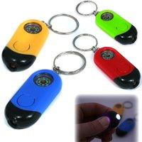 LED-Taschenlampe mit Kompass und Schlüsselanhänger