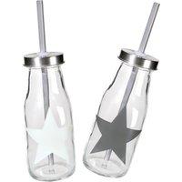 Trinkflasche -Star- aus Glas