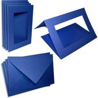 Passepartoutkarten königsblau