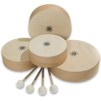 edumero Sparset mit 4 Holz-Tamburinen